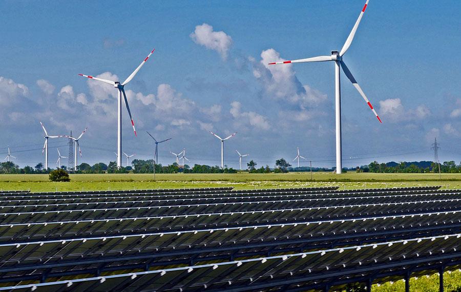 énergies renouvelable, solaire et éolien